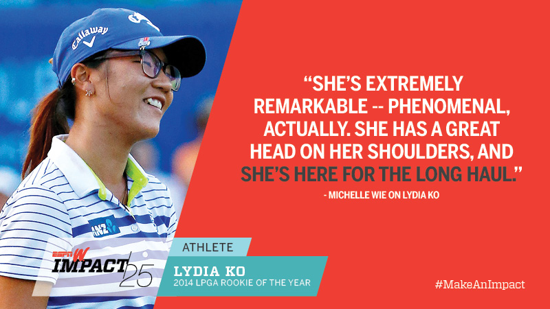 Lydia Ko, 17, 2014 LPGA Rookie Of The Year