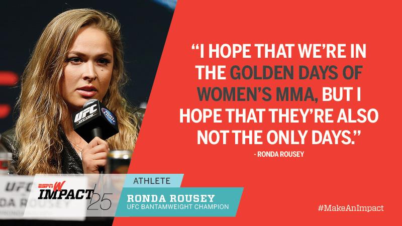 Ronda Rousey, 27, UFC Bantamweight Champion
