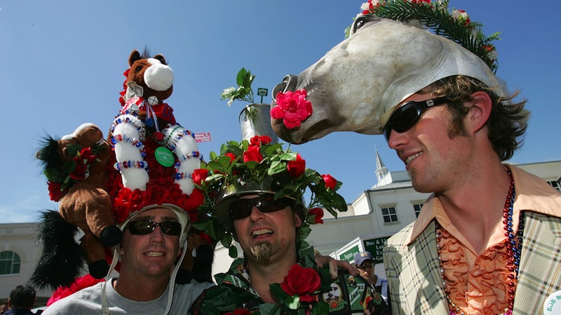 Will you be proud of this in 10 years, guy-on-the-left? You have a stuffed horse on your head. No, wait ... make that TWO.
