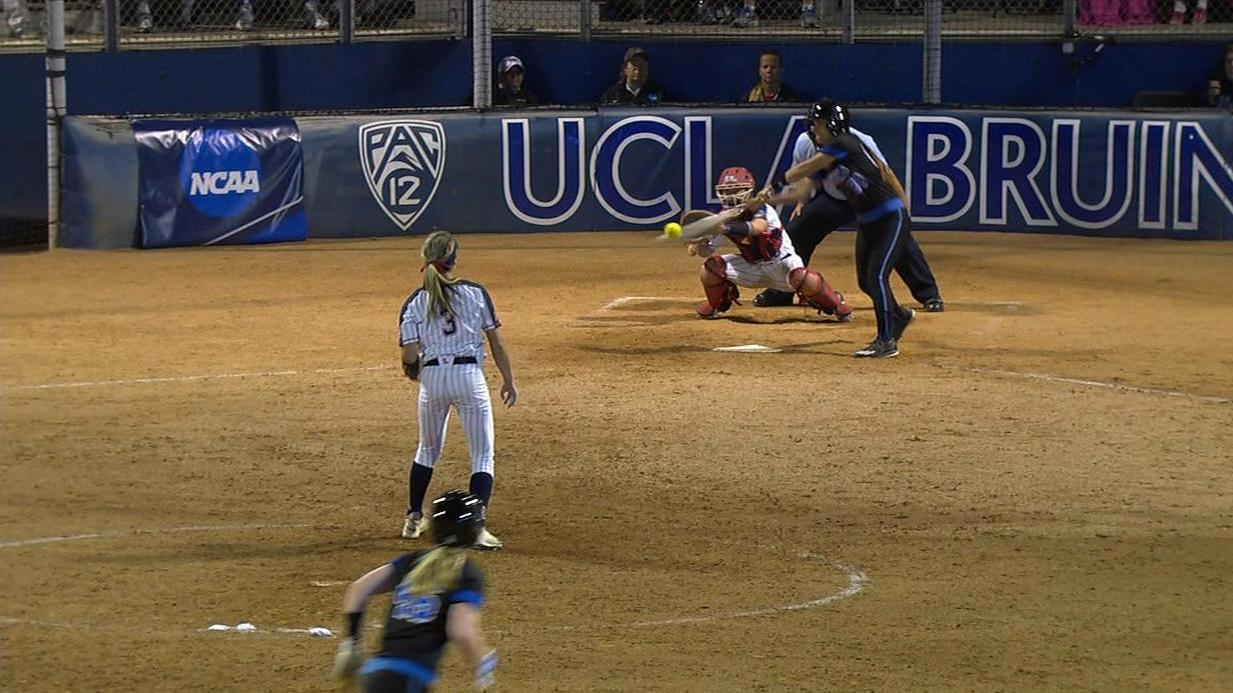 2017 NCAA softball tournament -- UCLA Bruins top Ole Miss Rebels in wild 11-inning game to take Game 1 of super regional