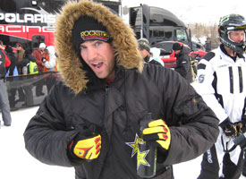 Justin Hoyer is your No. 1 qualifier for Snowmobile Freestyle.