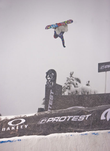 Matt Ladley arguably could have beaten out Longo for first, stomping the cleanest airs, but lost points for lack of variation. He did take best trick with a backside 540.