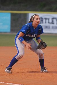 Cheyenne Jenks stars in both softball and volleyball for Florida Gulf Coast.