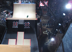 This is the view from the top of the Big Air ramp. Vertigo much?