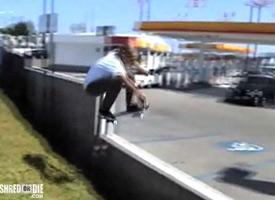The lovingly grainy footage of Kincade. Nick Garcia clears a gas station gap.