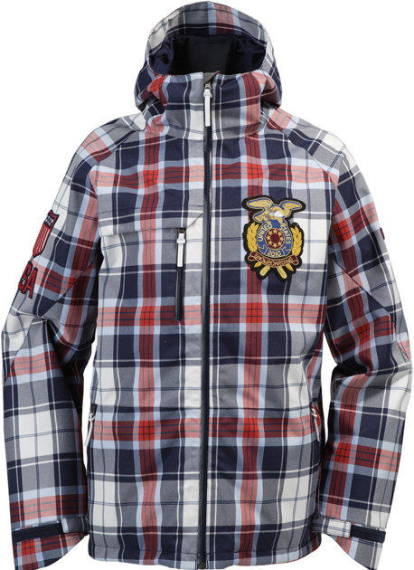 2010 Snowboard top: preppy plaid with a twist.