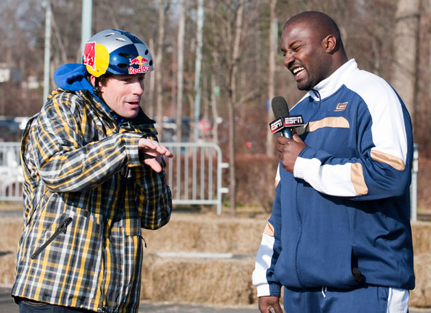 Travis Pastrana and Marcellus Wiley talk about the intense go-kart race they had while filming for SportsCenter.