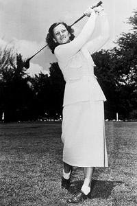 Among her many accomplishments as an all-around athlete, Babe Didrikson Zaharias made the cut at several men's golf events in the mid-1940s.