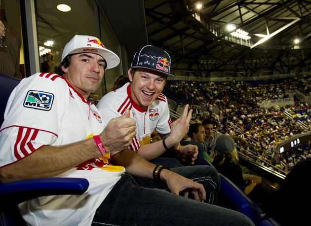 Ronnie Renner and Heath Frisby living the life at the NYC Red Bulls game at the new Red Bull Arena.