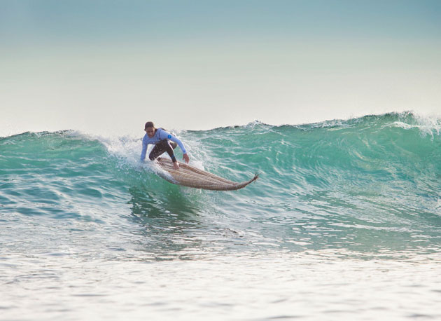 Sally Fitzgibbons, racking up huge style points with the Inca judges.