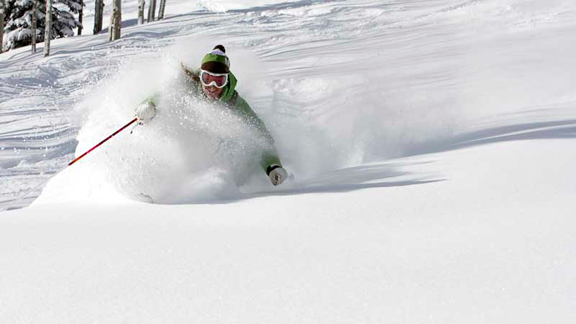 Powder at The Canyons: Now that's memorable.
