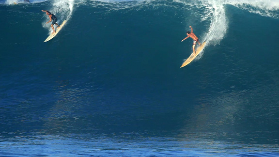 Waimea breaking is usually a joyous occasion this time of year.