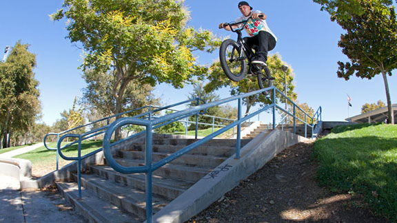 Ryan 'Biz' Jordan, filming for the video to promote his new Volume frame, the RJ-20R.