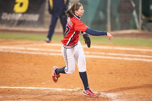 Amanda Crabtree, a power pitcher, had 198 strikeouts last season.