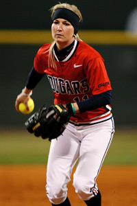 Senior transfer Donna Bourgeois is the only Cougars player with Women's College World Series experience.