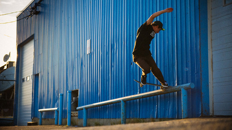 Russ Milligan, backside 180 nosegrind