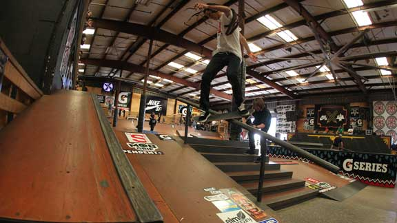 Nyjah Huston, backside 270 lip