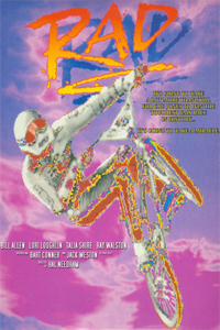 VHS cover from the movie Rad