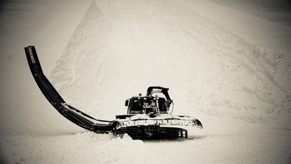 Cats have been working nonstop building Red Bull's private park at Squaw.