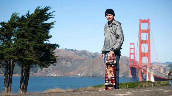 Chico Brenes by the Bay in the city that helped establish him in skateboarding: San Francisco.