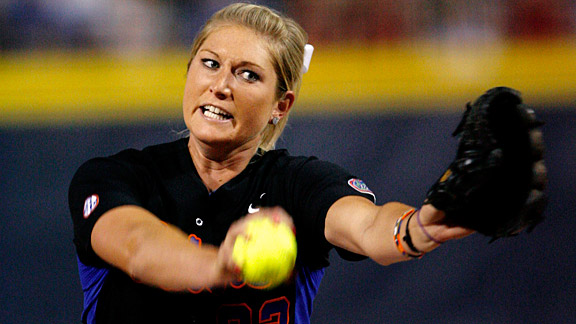 Stephanie Brombacher retired the last eight batters in Florida's win over Cal on Saturday.