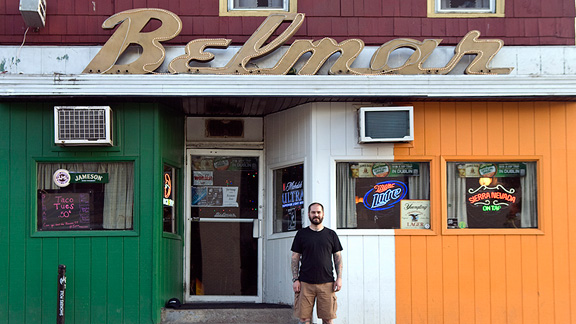 Dave at a Binghamton staple, the Belmar, host to FBM dirt comps and Dave's favorite night of the week, Taco Tuesday.