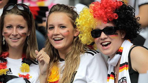 Fans filled the stands and flooded the tube for the opening game between Germany and Canada.