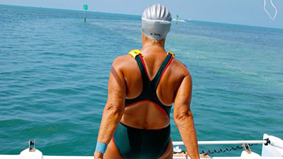 The planned swim from Cuba to Florida is more than 100 miles. There's no training manual for this kind of swim, so Diana Nyad's had to make it up as she goes along.