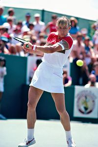 Women's team sports were rarely on television in the 1970s and '80s, but individual stars such as Martina Navratilova became familiar faces.