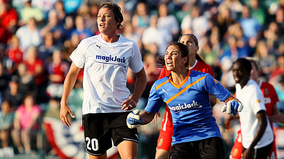 Abby Wambach and Hope Solo played for Dan Borislow's magicJack team last season.
