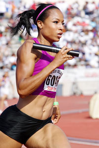 U.S. sprinter Natasha Hastings sticks as close to possible to a clean, healthy diet when she travels.