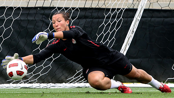 Jill Loyden is a technically sound goalie, even impressing Hope Solo with her skills.