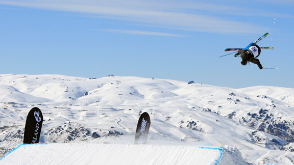Joss Christensen took first at the big air finals Saturday in New Zealand.