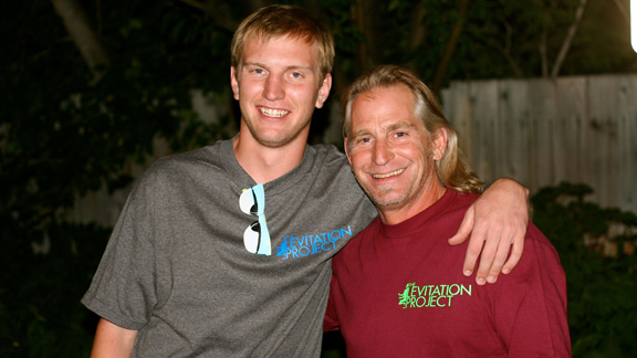 Bode Merrill, holder of the coveted twel2ve ender segment, and his dad Bob.