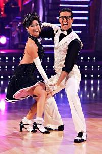 Kristi Yamaguchi and her partner Mark Ballas