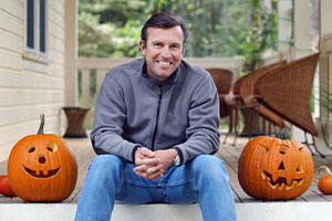 Ed Viesturs getting ready to trick-or-treat.
