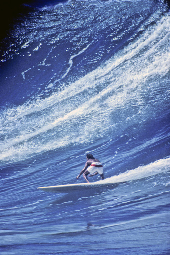 A man at home in his element. A lifeguard, surfer, paddler, diver, an all-around waterman, Aikau never felt more comfortable than when the North Pacific was unloading on Waimea Bay, and more than 30 years after his death, he's still remembered as such.