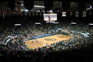 Fans pack the Ferrell Center to see the Lady Bears; the school was sixth in the nation in attendance last year.