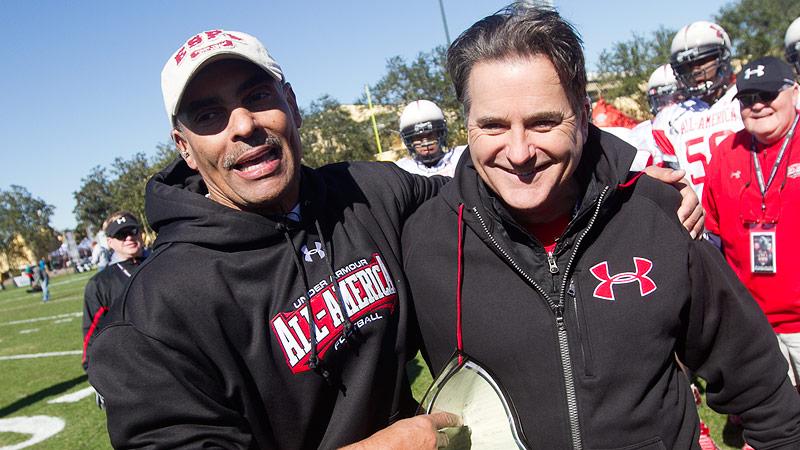 Herm Edwards and Steve Mariucci