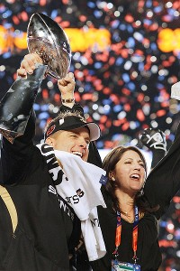 Saints coach Sean Payton and Rita Benson LeBlanc share strong hopes for another Super Bowl victory.