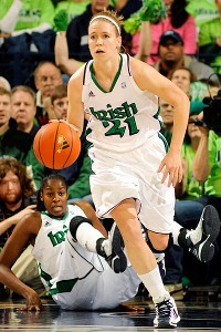 Natalie Novosel contributed 20 points, including six free throws in overtime, to Notre Dame's win.