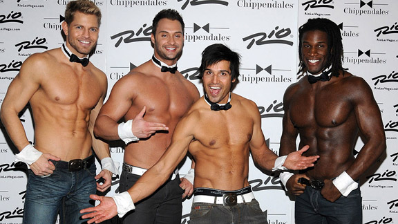 Ricardo Laguna (second from right) has made the jump from BMX dirt to male revue.