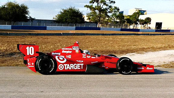 Scott Dixon drove one day of the IndyCar Series' Sebring test in this Ganassi Racing car.