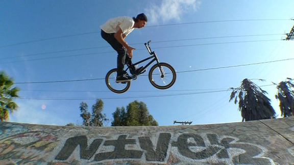 Classic Mike Ardelean barspin style in a Culver City ditch formerly guarded by Adam Banton.