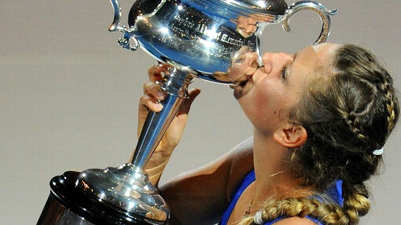 Victoria Azarenka's win in the 2012 Australian Open catapulted her to a 26-match win streak to open last season.