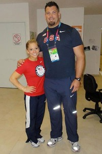 Shawn Johnson and U.S. discus thrower Jarred Rome are both training at the Michael Johnson Performance Center.