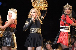 Madonna's halftime show couldn't be saved by guests Nicki Minaj and M.I.A., even with the latter's gesture malfunction.