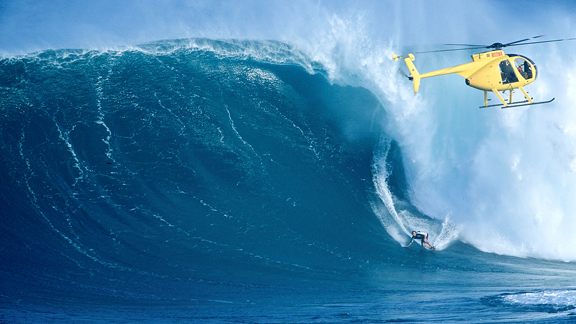 There's a reason why we towed it [Peahi] in the beginning. It's not like we wouldn't have paddled it had we thought it was great for that, but there's just too much water moving out there when it really is happening.