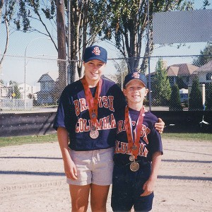 Danielle and Brett Lawrie were ultra-competitive with one another, but the siblings were just as supportive.