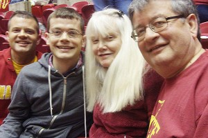 The Despotovich family, left to right, Justin, Christian, Linda and Ron, are longtime fans and like the family feel of the program.
